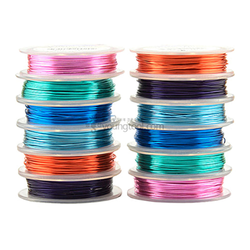 Beadalon 아티스틱 와이어 Retail Spool Variety Packs (12종/Silver Plated Color)
