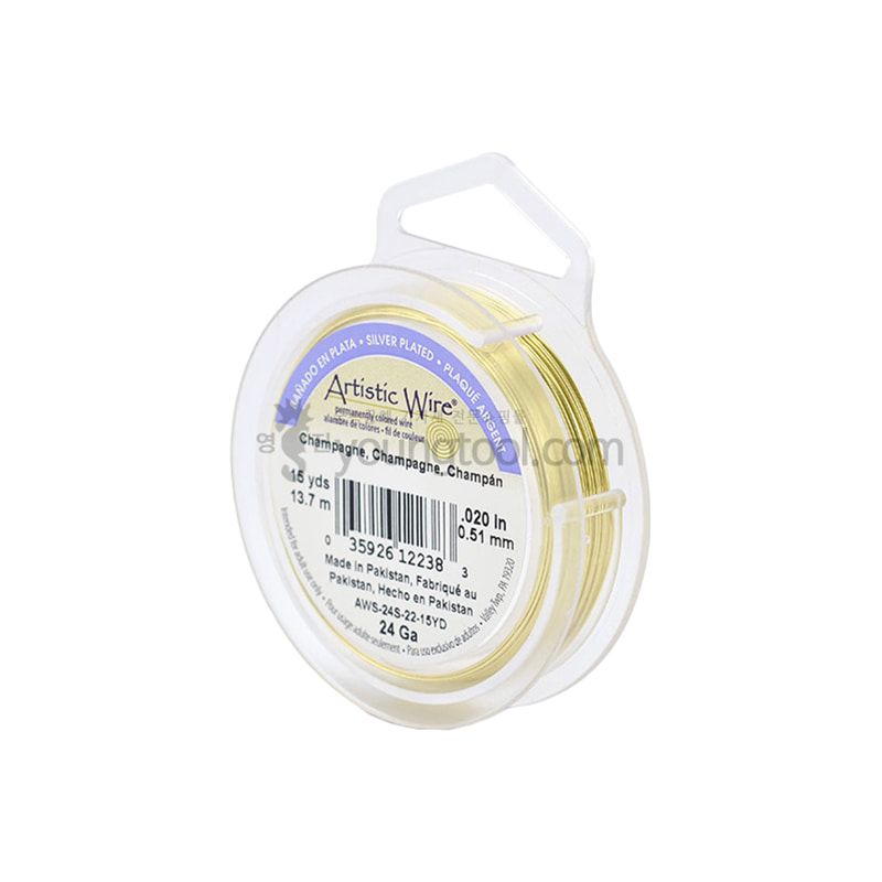 Beadalon 아티스틱 와이어 Silver Plated Color (Champagne/Retail Spool)