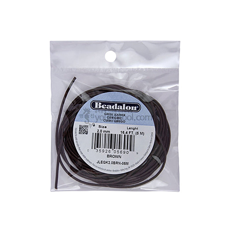 Beadalon Greek Leather Cord 그리스 가죽끈 (5M/Brown)
