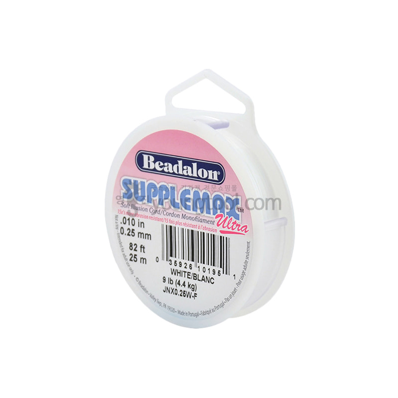 Beadalon SuppleMax Ultra 우레탄 낚시줄 (25M/White)