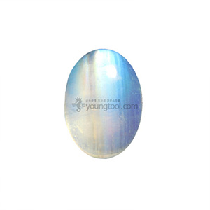레인보우 문스톤 (Cabochon Rainbow Moonstone/Oval)