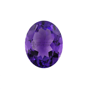 자수정 (Faceted Amethyst/Oval)