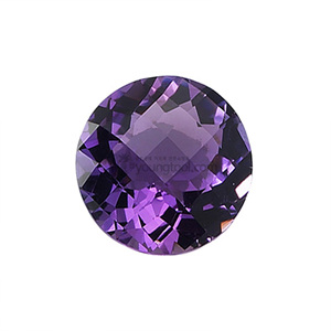 자수정 (Faceted Amethyst/Round Checkerboard)