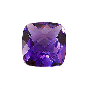 자수정 (Faceted Amethyst/Cushion Checkerboard)