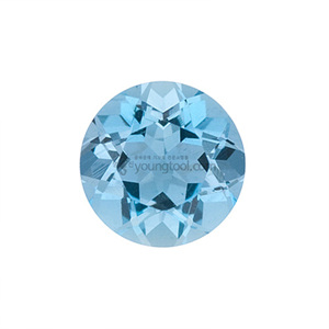 아쿠아마린 (Faceted Aquamarine/Round)