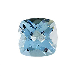 아쿠아마린 (Faceted Aquamarine/Cushion Checkerboard)