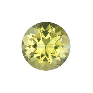 레몬 수정 (Faceted Lemon Quartz/Round)