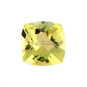 레몬 수정 (Faceted Lemon Quartz/Cushion Checkerboard)