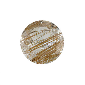 갈색 침수정 (Faceted Copper Rutilated Quartz/Round)
