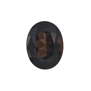 스모키 수정 (Faceted Smoky Quartz/Oval)