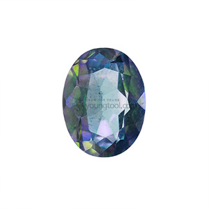 레인보우 토파즈 (Faceted Rainbow Topaz/Oval)