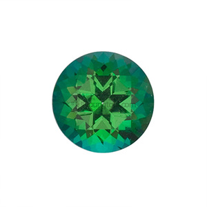 그린 토파즈 (Faceted Green Topaz/Round)