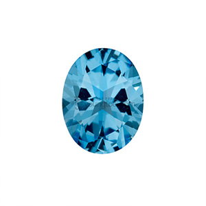 아이스블루 토파즈 (Faceted Ice blue Topaz/Oval)