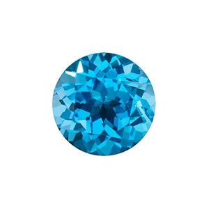 스위스블루 토파즈 (Faceted Swiss Blue Topaz/Round)