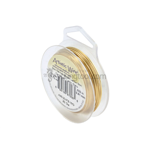 Beadalon 아티스틱 와이어 Standard Color (Non-Tarnish Brass/Retail Spool)