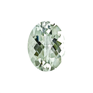 Ex-S 그린 수정 (Faceted Green Quartz/Oval Checkerboard)