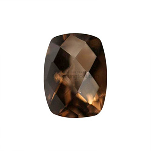 Ex-S 스모키 수정 (Faceted Smoky Quartz/Antique Cushion Checkerboard Double Side)