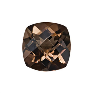 Ex-S 스모키 수정 (Faceted Smoky Quartz/Cushion Checkerboard Double Side)