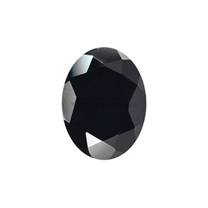 Ex-S 블랙 스피넬 (Faceted Black Spinel/Oval)