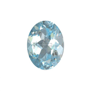 Ex-S 스카이 블루 토파즈 (Faceted Sky Blue Topaz/Oval)