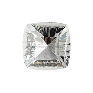 Ex-S 화이트 토파즈 (Faceted White Topaz/Cushion Concave)