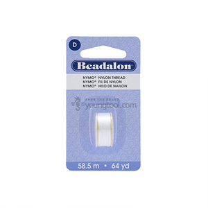 Beadalon Nymo Thread 나이모 나일론사 (White)