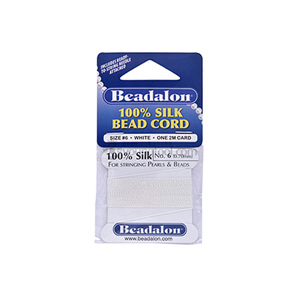 Beadalon Silk Thread 실크사 (2M/White)