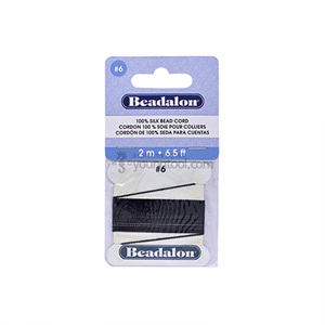 Beadalon Silk Thread 실크사 (2M/Black)