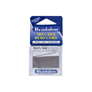 Beadalon Silk Thread 실크사 (2M/Grey)