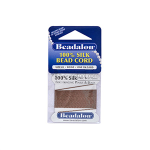 Beadalon Silk Thread 실크사 (2M/Beige)