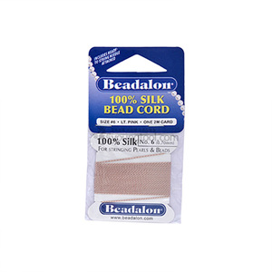 Beadalon Silk Thread 실크사 (2M/L.Pink)