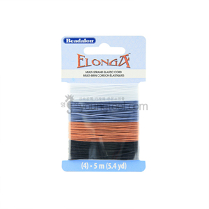 Beadalon Elonga Stretch Cord 우레탄줄 (5M/Black, Brown, Grey, Clear 4색)