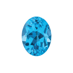 AAA+ 스위스블루 토파즈 (Faceted Swiss Blue Topaz/Oval)
