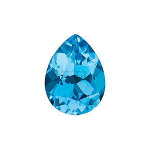 AAA+ 스위스블루 토파즈 (Faceted Swiss Blue Topaz/Pear)