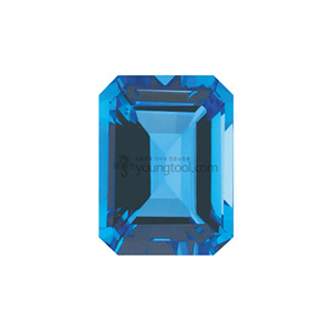 AAA+ 스위스블루 토파즈 (Faceted Swiss Blue Topaz/Emerald)