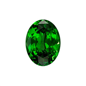 크롬 다이옵사이드 (Faceted Chrome Diopside/Oval)