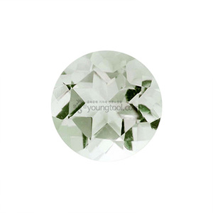 그린 수정 (Faceted Green Quartz/Round)