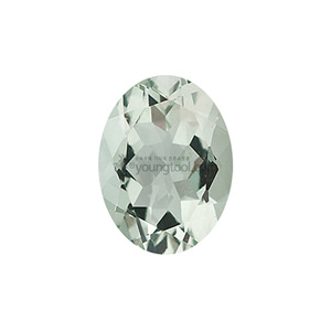 그린 수정 (Faceted Green Quartz/Oval)