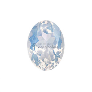 블루 문 수정 (Faceted Blue Moon Quartz/Oval)